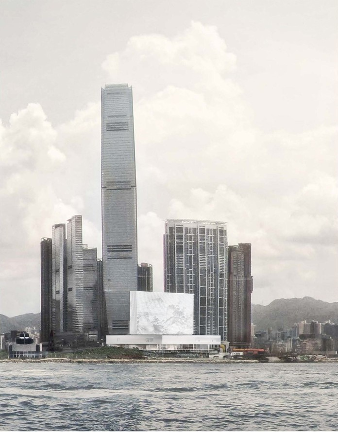 M+ along Victoria Harbour on Hong Kong Island