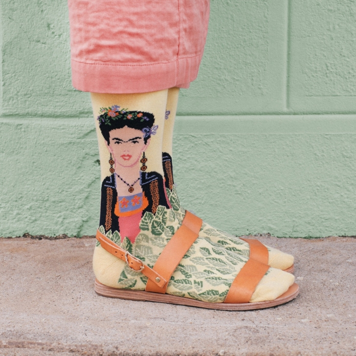 Frida Kahlo in Ancient Greek Sandals Styled by Kate Brien Photographer: David Kitz